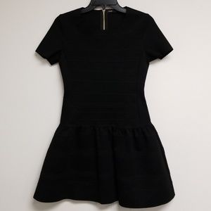 Maje Black Shortsleeve A-line Dress